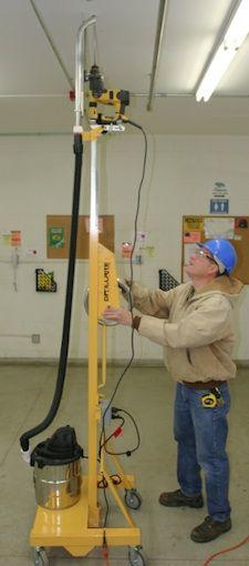 Portable Electric Tools: TELPRO DrillRite 350 Overhead Concrete Drill Press - Contractor Supply Magazine
