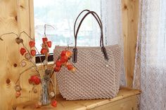 Paola Collection: #borsa   cordino. pelle. cotone. pezzo unico!