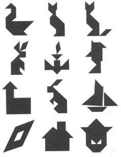 Танграм радужный - игра-головоломка из фетра