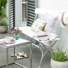 Pale pastel garden area | Garden decorating ideas | Homes & Gardens | Housetohome