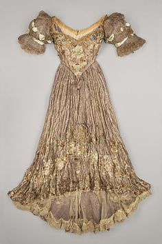 Doucet Dress - 1898-1900 - by Jacques Doucet (French, 1853-1929) - Silk, metal, plastic - The Metropolitan Museum of Art - @~ Mlle