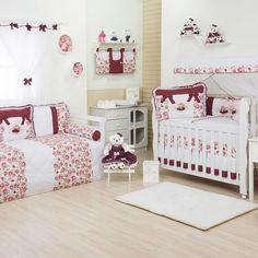 O Quarto para Bebê Sophia Vinho é uma alternativa de quarto de bebê vermelho que traz uma tonalidade mais sóbria da cor, menos chamativa: o vinho. A decoração de quarto de bebê fica mais charmosa com essa cor e a estampa floral!