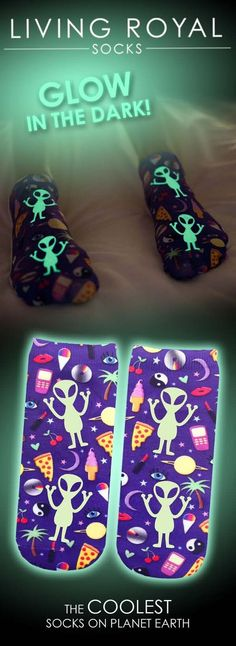 We are so excited to release our new Glow In The Dark collection!!! Yes these socks do glow in the dark!! Use 'GET10OFF' for 10% off all orders! Start expressing yourself from head to toe. Check out our collections of the coolest socks on planet earth! $3 flat-rate shipping on all US orders.