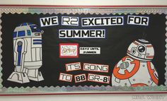 Star Wars countdown to summer bulletin board