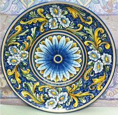 mediteranean style blue plate