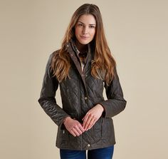 LWX0215OL71 | Barbour Lifestyle | Womens | Barbour - BARBOUR QUILTED UTILITY WAXED JACKET