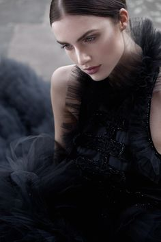 http://www.annakania.de #Couture #black
