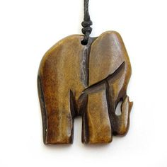 Tibetan Ox Bone Carved Elephant Pendant Bead For by Chip Carving, Bone Carving, Dremel Carving, Whittling Wood, Elephant Jewelry, Elephant Necklace, Bone Crafts, Wood Carving Designs, Wooden Jewelry