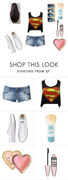 """""""Shopping"""" by bella-schroeder ❤ liked on Polyvore featuring Zara, Converse, Too Faced Cosmetics and Maybelline"""