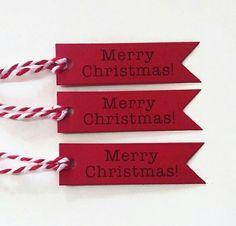 Merry Christmas gift tags. www.polychromo.etsy.com