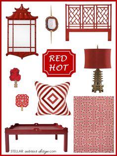 Interior Design Boards, Zinc Door, Red, Home Décor, Online Interior Design Services, e-design, e-décor, inspiration boards, www.stellarinteriordesign.com