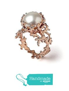 18k Rose Gold Plated Sterling Silver, Large 12mm White Freshwater Cultured Pearl, Coral Reef Organic Statement Ring, Size 4 to 13 from Arosha https://www.amazon.com/dp/B016S99FFC/ref=hnd_sw_r_pi_dp_dieEybC8SGEPK #handmadeatamazon