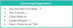 Expressing Agree and Disagree in English Conversation