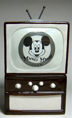 """Who's the leader of our gang? The one for you and me? Is it Mickey Mouse club time yet??? MICKEY MOUSE CLUB TELEVISION SALT AND PEPPER SHAKER SET (from Walt Disney's """"The Mickey Mouse Club"""" TV show)"""