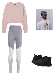 """""""Untitled #8"""" by haileymagana on Polyvore featuring NIKE"""