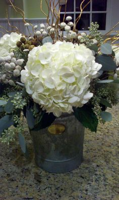 Loving rustic floral arrangements lately! This was for a November party.