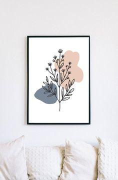Botanical Wall Art, Botanical Prints, Framed Wall Art, Framed Art Prints, Diy Canvas Art, Abstract Flowers, Abstract Print, Printable Wall Art, Art Drawings