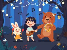 The animals' forest party clean illustrator mobile 插图 identity minimal lettering flat web app animation vector typography logo icon branding ux illustration design ui Illustration Art Drawing, Forest Illustration, Children's Book Illustration, Illustration Animals, Digital Illustration, Character Drawing, Character Design, Forest Party, Illustrations And Posters