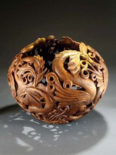 """Dragon Dance"" gourd by Ron Fleming"