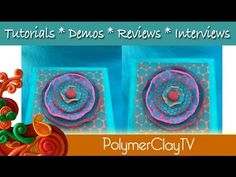 How to make a punchinella polymer clay flower - YouTube