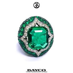 That's Bayco! The finest emeralds, set in a one of a kind ring.