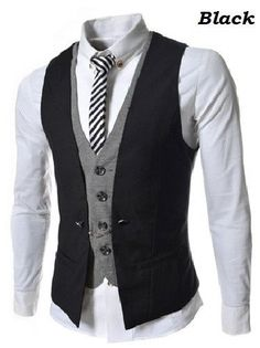 Men-Double-Breasted-Slim-Fit-Sleeveless-Cotton-Waistcoat-Suit-Vest-top-business