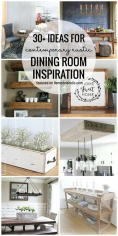 Get the perfect blend of contemporary and rustic with these 30+ Ideas For Contemporary Rustic Dining Room Inspiration featured on remodelaholic.com