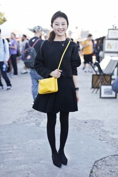 Another pop of yellow! Our signature colour is SO in right now ;) Brooklyn flea market street style www.tsesay.com