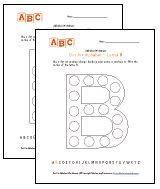 alphabet dot art worksheets