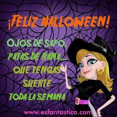 Feliz Halloween. Conjuro Halloween. Disfraces Halloween. Noche de Halloween. Maquillaje Halloween. www.esfantastica.com