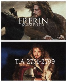Frerin, was the second son of Thráin II, son of Thrór, King Under the Mountain.  He was the younger brother of the future King Thorin Oakenshield and the older brother of Dis. Born in Third Age 2751, he lived in the Lonely Mountain during a time of wealth and prosperity under his grandfather's rule. When he was just 19 the dragon Smaug pillaged Erebor. While in exile King Thrór wished to re-enter his ancestral home or office Moria, where he was beheaded by the Orc Chieftain Azog,