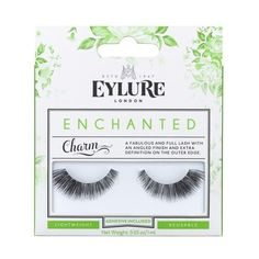 Eylure Enchanted False Lashes - Charm (365 PHP) ❤ liked on Polyvore featuring beauty products, makeup, eye makeup, false eyelashes, long fake eyelashes, long false eyelashes, eylure, eylure false eyelashes and slant tweezer