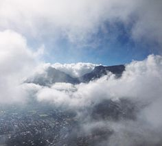 Taken from up top of Lion's Head, looking back at Devil's Peak and Table Mountain through a window in the clouds. Cape Town, South Africa. #capetown #mountains #clouds #lionshead #tablemountain #devilspeak #wunderlust #explore #instagood #instanature #instatravel #africa #southafrica #hiking #hikingadventures #landscape #southafricanskies #cloud #mountain #summer #cpt
