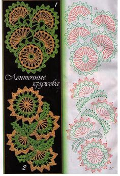 World crochet: Crocheted strips 3