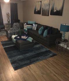 67 Ideas apartment living room decor blue home Blue Living Room Decor, Living Room Bedroom, Living Room Designs, Bedroom Decor, First Apartment Decorating, Lounge Decor, My New Room, Apartment Living, Apartment Ideas