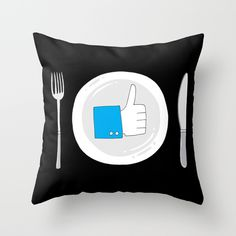Food of tomorrow Throw Pillow