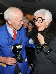 Iris Apfel with Bill Cunningham