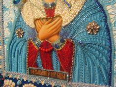 Купить Умиление (самая большая) - икона, икона в подарок, икона бисером, икона вышитая бисером