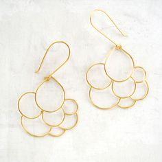 Fab.com | MeanderWorks: Cumulus Earrings Vermeil, at 20% off!