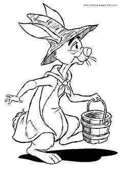 Rabbit Halloween Color Page