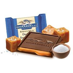 Ghirardelli Chocolate Squares - Dark & Sea Salt Caramel