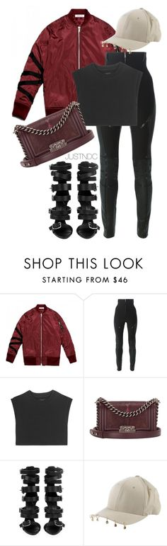"""Untitled #477"" by naysdamncloset ❤ liked on Polyvore featuring Dsquared2, adidas Originals, Giuseppe Zanotti and Flexfit"