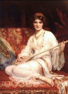 """""""The Dancing Girl"""" by William Clarke Wontner (1903)."""