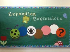 A bulletin board I created for the expanding expressions tool.