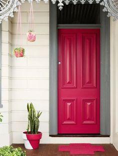 Statement doors, pink door.