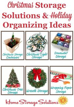Lots of ideas for Christmas storage solutions and holiday organizing ideas for your home {on Home Storage Solutions 101}