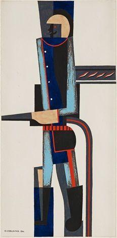 Otto Gustav Carlsund (Swedish, 1897–1948) Title:     BIOGRAFSVITEN, 9 ST , 1926