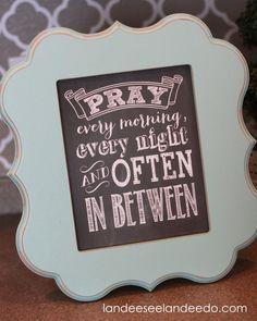 Pray Printable - Landee See Landee Do