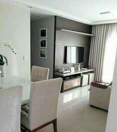 Sala Apartment Interior, Apartment Living, Living Room With Fireplace, Living Room Decor, Condo Decorating, Living Room Designs, Sweet Home, House Design, Home Decor