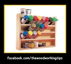 Woodworking Tips spray paint storage